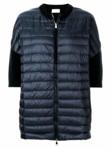Moncler short sleeve padded front cardigan - Blue