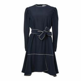 FG Atelier - Blue Crepe Loose Silhouette Dress