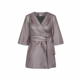 CoCo VeVe - Mary-H-Wrap Metallic Dress Kimono
