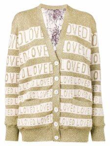 Gucci Loved oversized lurex cardigan - Neutrals