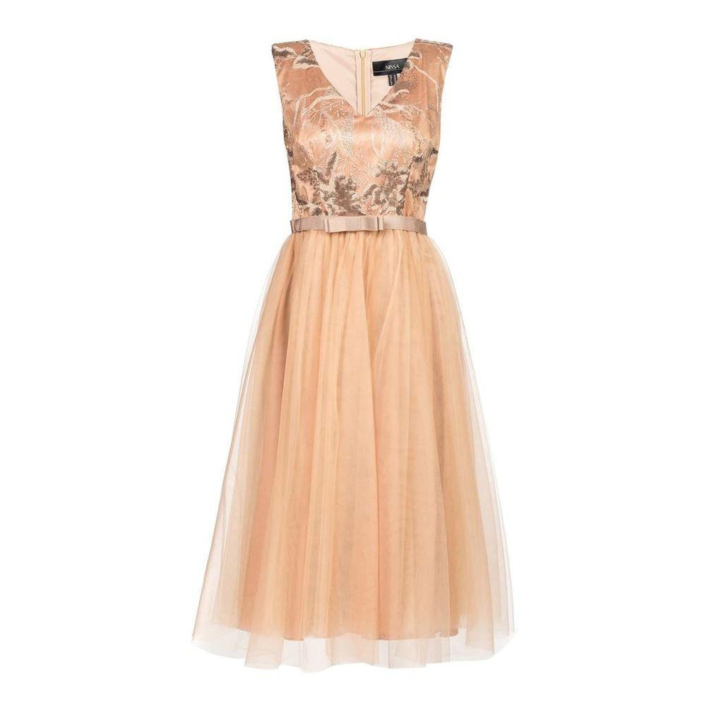 Nissa - Elegant Dress with Sequin Details