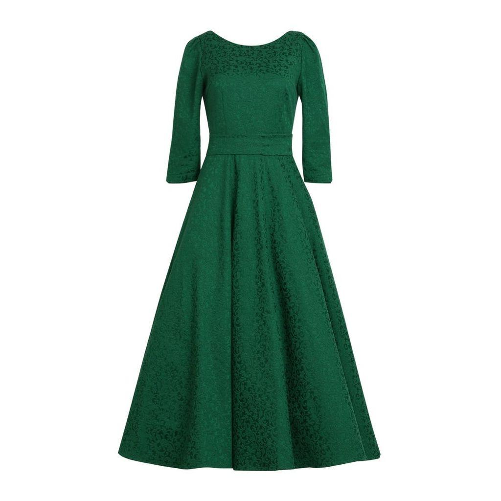 MATSOUR'I - Jacquard Dress Alyzee Green