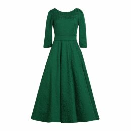 MATSOUR'I - Jacquard Dress Alyzee Green