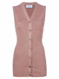 Prada sleeveless knitted top - Pink