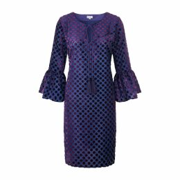 At Last. - Belle Silk Velvet Dress Purple Spot