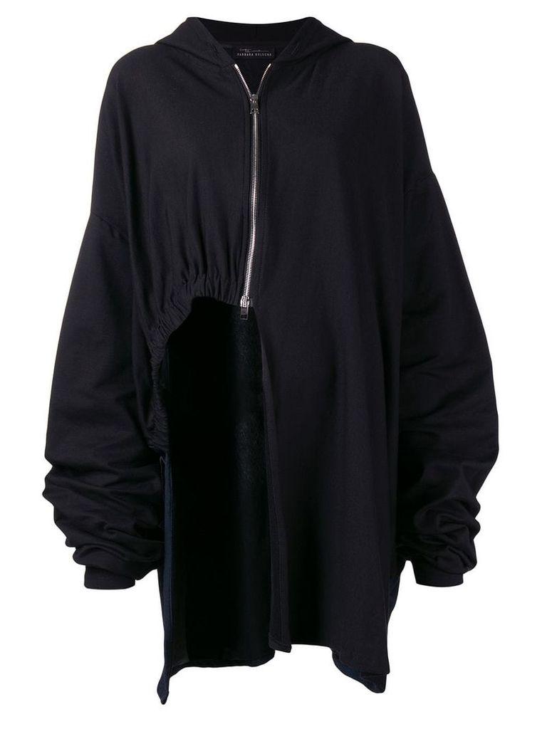 Barbara Bologna elongated asymmetric jacket - Black