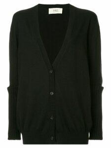 Ports 1961 slit elbow knitted cardigan - Black