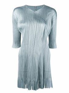Pleats Please By Issey Miyake ribbed cardigan - Blue