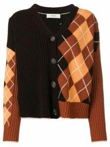 Pringle Of Scotland argyle panel cardigan - Brown