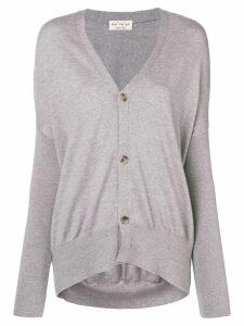 Ma'ry'ya longline v-neck cardigan - Grey