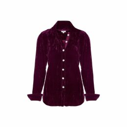 At Last. - Karen Silk Velvet Shirt Fuchsia