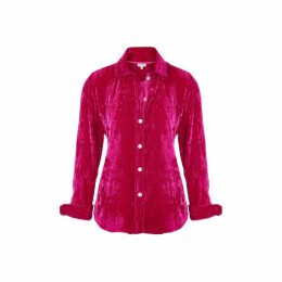 At Last. - Karen Silk Velvet Shirt Hot Pink