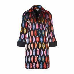 At Last. - Amanda Silk Velvet Shirt Multi Ikat