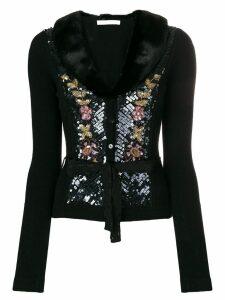 Blumarine sequin embellished cardigan - Black