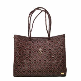 PAISIE - Striped Asymmetric Skirt With Side Drape In Brown Gold & White
