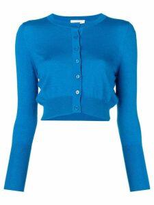 Snobby Sheep cropped round neck cardigan - Blue