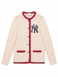 Gucci Cardigan with New York Yankees ™ patch - Neutrals
