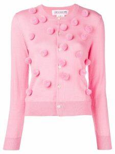 Comme Des Garçons Girl pom pom cardigan - Pink