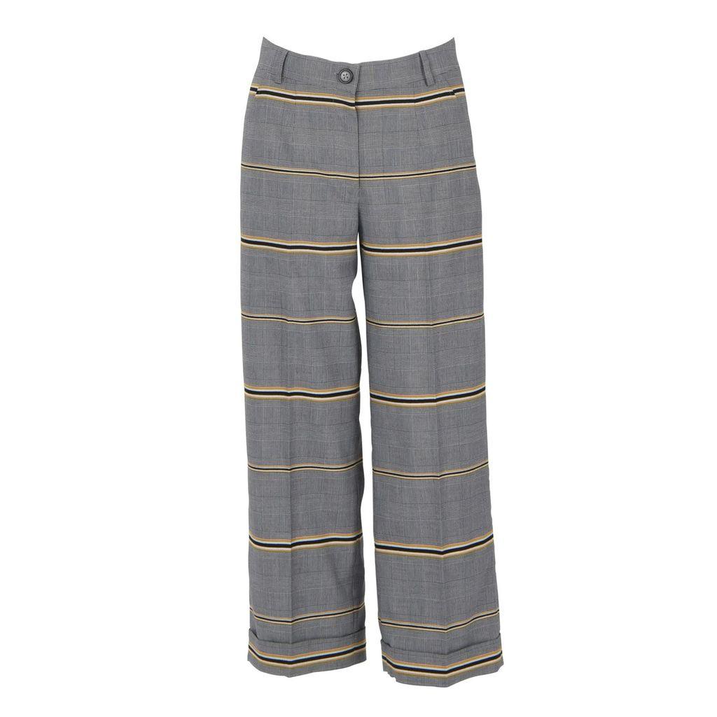 Lily & Roo - Silver Stacked Baguette Diamond Style Huggie Hoop Earrings