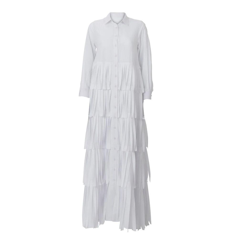 Lily & Roo - Gold Stacked Baguette Diamond Style Huggie Hoop Earrings