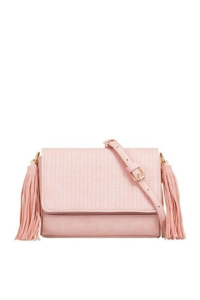 Womens **Faux Leather Shoulder Clutch Bag By Koko Couture - Pink, Pink