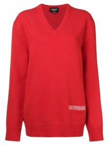 Calvin Klein 205W39nyc oversized knited jumper - Red
