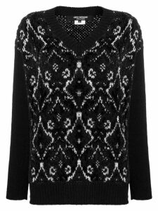 Junya Watanabe v-neck slouchy sweater - Black