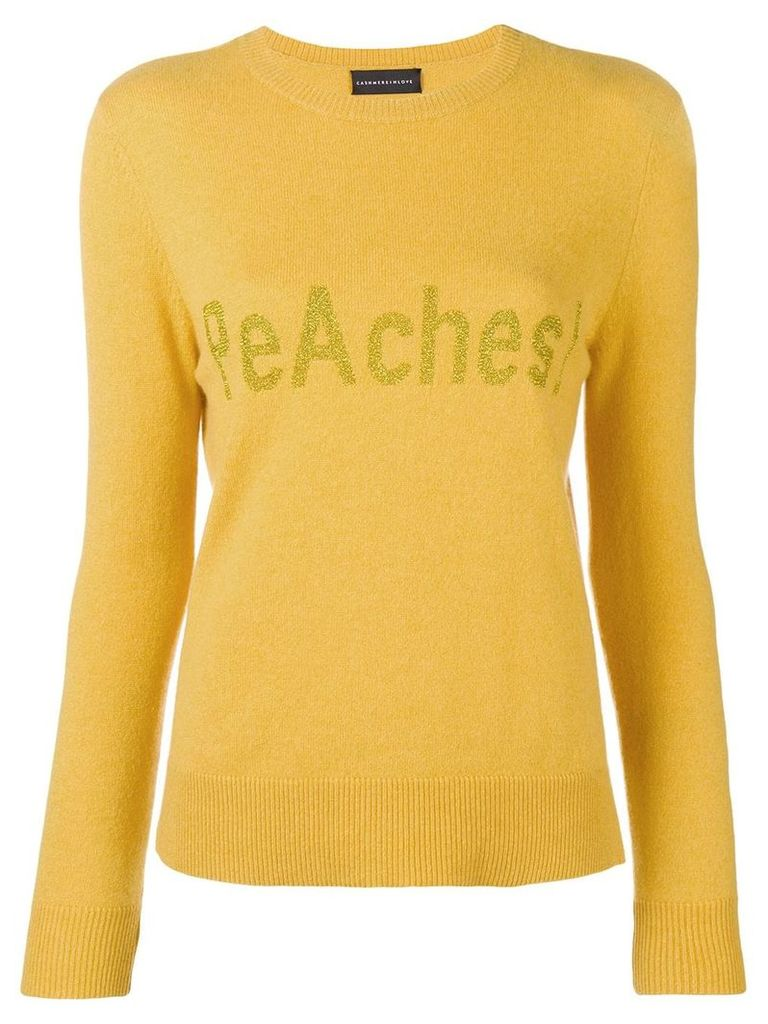 Cashmere In Love cashmere peAches! jumper - Yellow