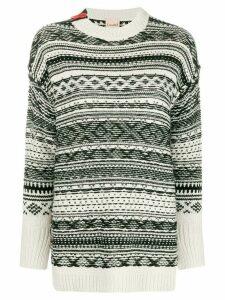 Nude patterned jumper - Black