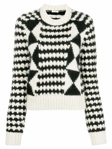 Saint Laurent loose knit sweater - Black