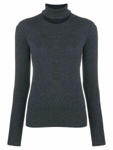 Chalayan split neck sweater - Grey