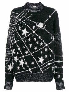 Saint Laurent lurex constellation sweater - Black