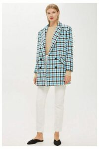 Womens Houndstooth Coat - Multi, Multi