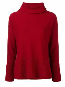 Antonelli turtleneck fine knit sweater - Red