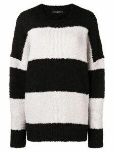 Amiri striped knit jumper - Black