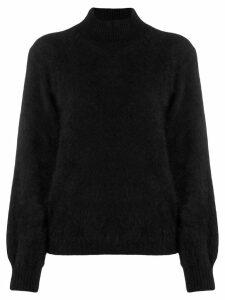 Alberta Ferretti basic furry jumper - Black
