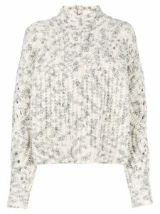 Isabel Marant chunky high neck sweater - White