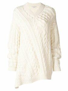 Stella McCartney cable-knit oversized sweater - White