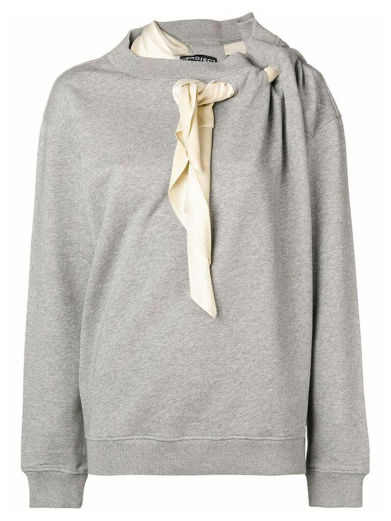 Y/Project deconstructed sweatshirt - Grey