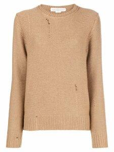 Golden Goose distressed crewneck sweater - Neutrals