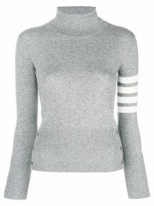 Thom Browne striped turtleneck sweater - Grey