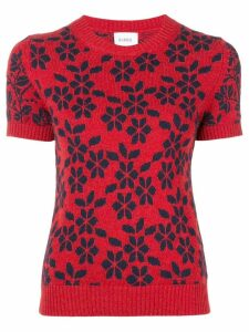 Barrie New Delft cashmere top - Red