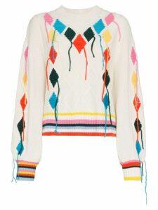 Mira Mikati embroidered jumper - White