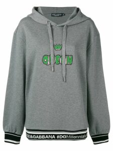Dolce & Gabbana Queen hoodie - Grey