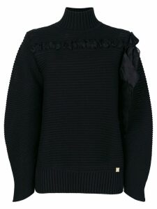 Cavalli Class ribbed knit sweater - Black