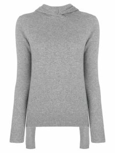 Cashmere In Love Mabel hooded jumper - Grey