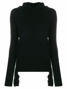 Cashmere In Love Mabel hooded jumper - Black