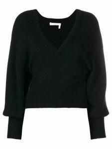 Chloé v-neck cropped sweater - Black