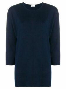 Allude boxy fine knit sweater - Blue