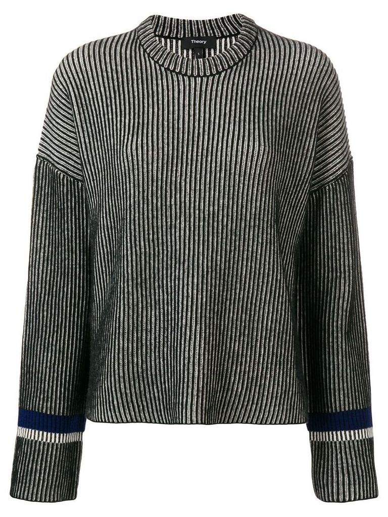 Theory cashmere loose fit jumper - Black